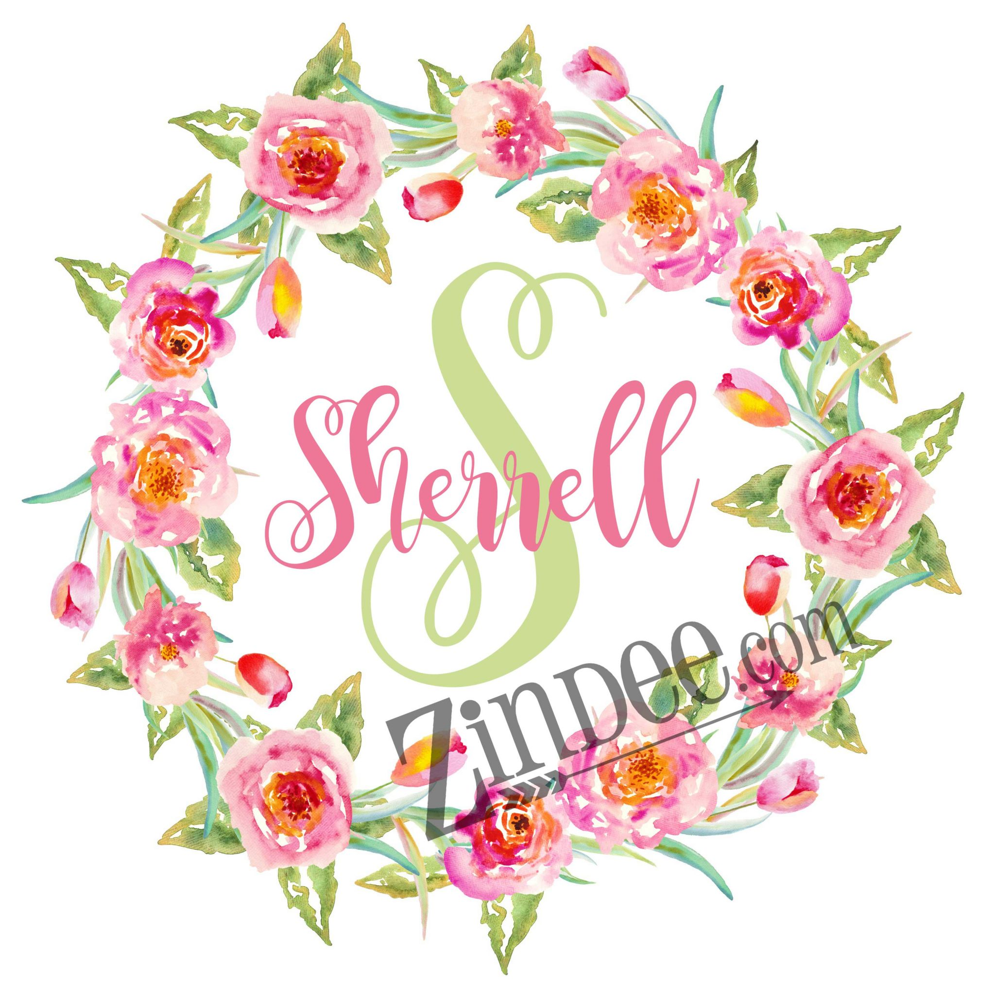 Floral Wreath Sublimation Zindee Studios