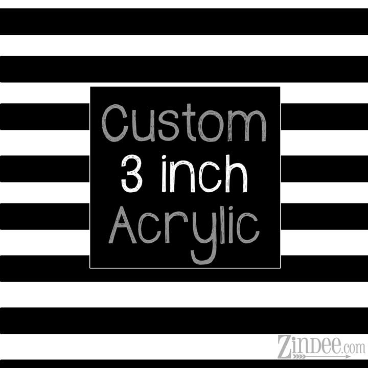 Special Request Acrylic Keychain 3 inch size (50 Pieces)